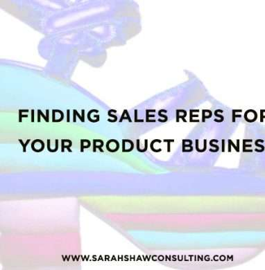 Finding Sales Reps for your Product Business