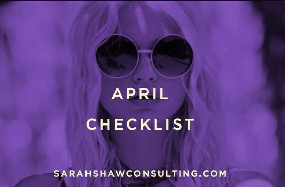 april checklist