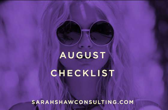 august checklist