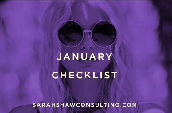 january checklist