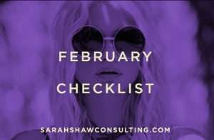 February checklist