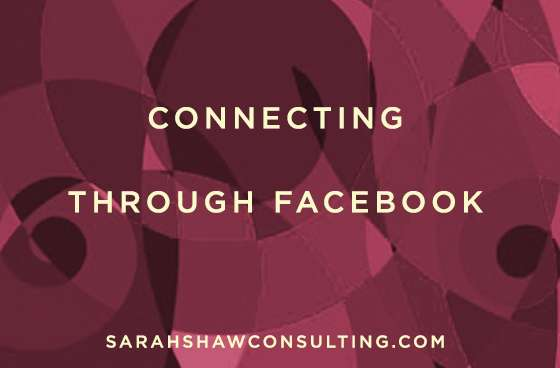 connecting through facebook