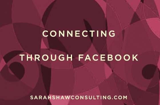 connecting through facebook