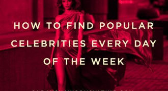 how to find popular celebrities every day of the week
