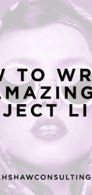 how to write amazing subject lines