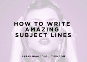 how to write amazing subject lines