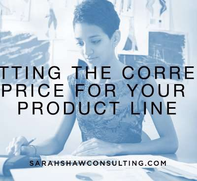 Setting the correct price for your product line